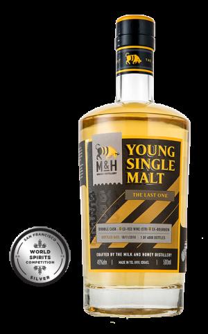Fles - Whisky- Milk & Honey - Single Malt - Last one - medal - 0,5l - 46% - awards
