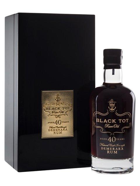 Fles & Case - Rum - Black Tot - B40 yrs Demerara Rum - 44,2% - 0,7l