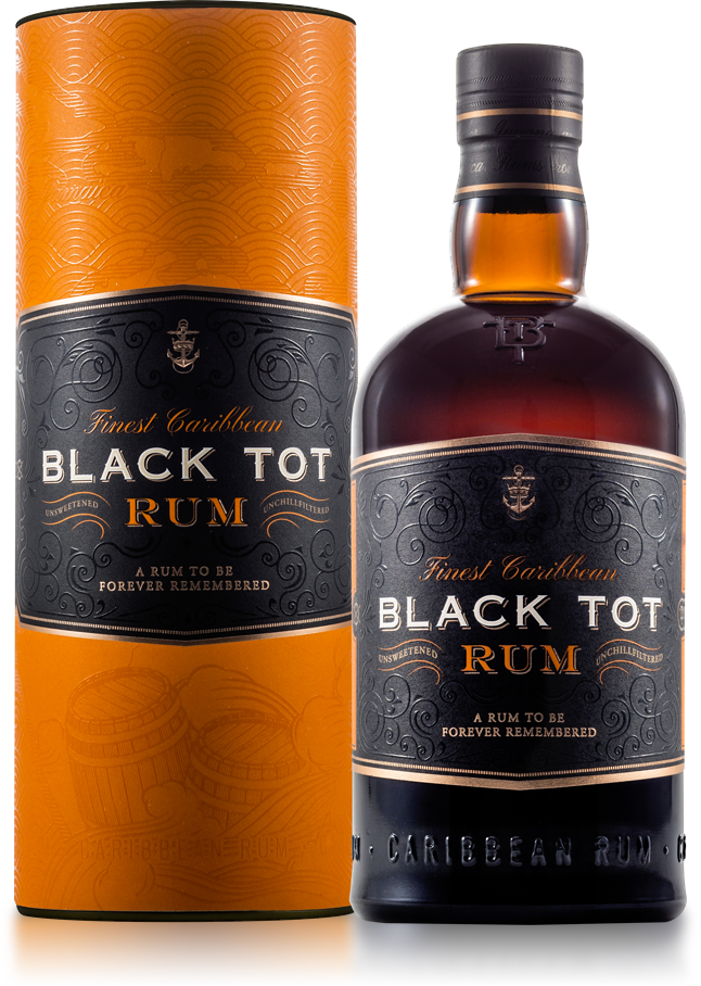 Fles & Case - Rum - Black Tot - Fines Caribbean - 46,2% - 0,7l