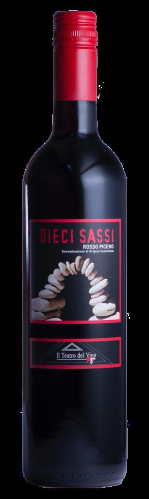 Fles - Wijnen - Italië - Piersanti - Bodolese 10 Sassi Rosso Piceno 18 - 0,75l - 12,5%