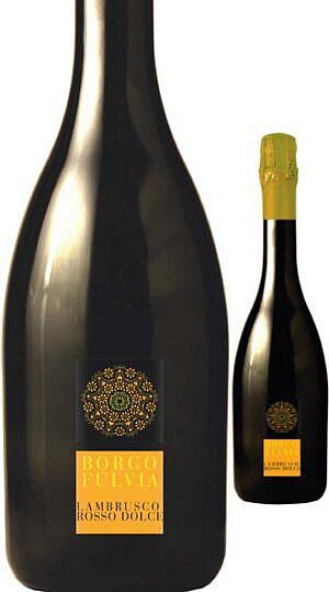 Fles - Wijnen - Italië - Borgofulvia - Lambrusco Rosso Dolce - 0,75l