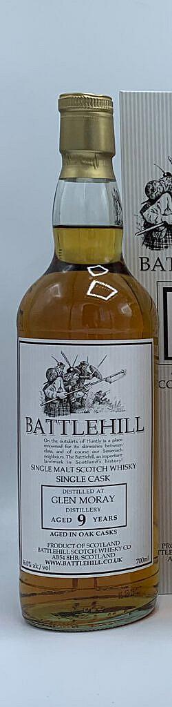 Fles & Case - Whisky - Duncan Taylor - Battlehill Glen Moray 9 yrs - 46% - 0,7l