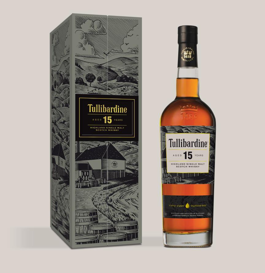 Fles & Case - Whiksy - Tullibardine - 15 yrs Highlands - 43% - 0,7l