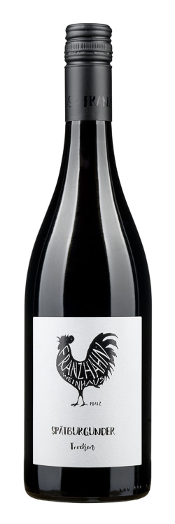 Fles - Wijnen - Duitsland - Franz Hahn Pfalz - Spätburgunder Trocken - 13,9% - 0,75