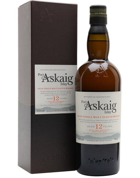 Fles & Case - Whisky - PPort Askaig 12 Y Autumn Edition bottled 2020 - 45,8% - 0,7l