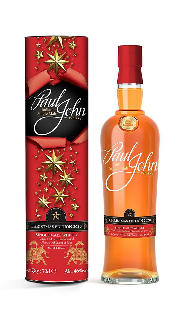 Fles & Case - Whisky - India - Paul John - Christmas Edition 2020 - 0,7l - 46%