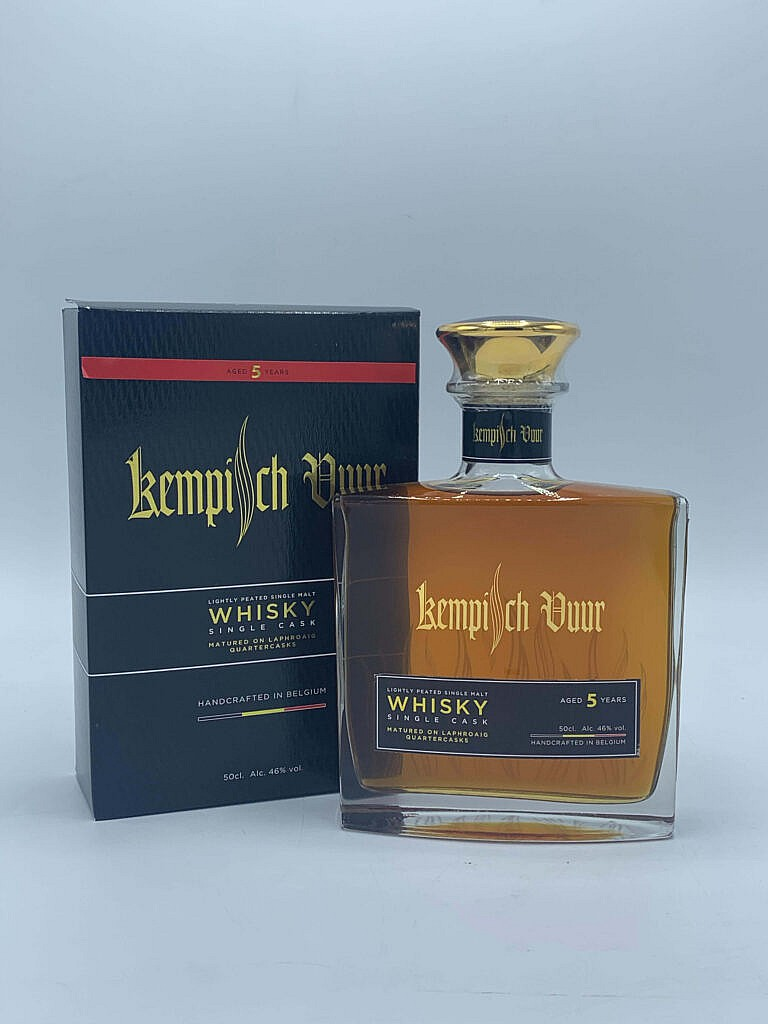 Fles & Case - Whisky - België - Pirlot Whisky - Kempisch vuur Single Cask - 46% - 0,5l