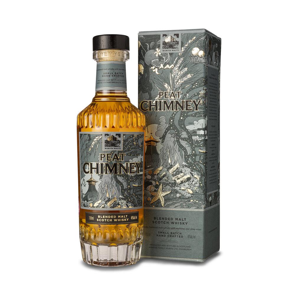 Fles - Whisky - Wemyss - Peat Chimney - blended malt - 2020 - 0,7 - 46%
