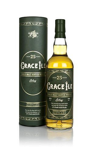 Fles & Case - Character of Islay - WInd & Wave - Grace Île - 25 yrs - 0,7l - 48%
