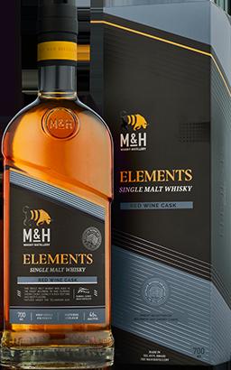 Fles & Case - Whisky - Israël - Milk & Honey - Elements Red Wine Cask - 46% - 0,7l