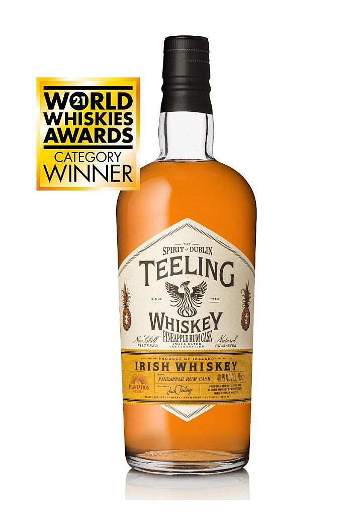 Fles - Whisky - Teeling - Plantation Pineapple Rum Cask - 0,7l - 49,2%