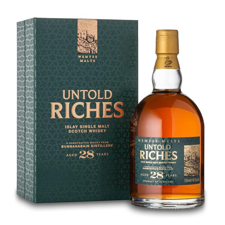 Fles & Case - Whisky - Schotland - Wemyss - Bunnahabhain Single Malt - 28y - 0,7l - 49,1%