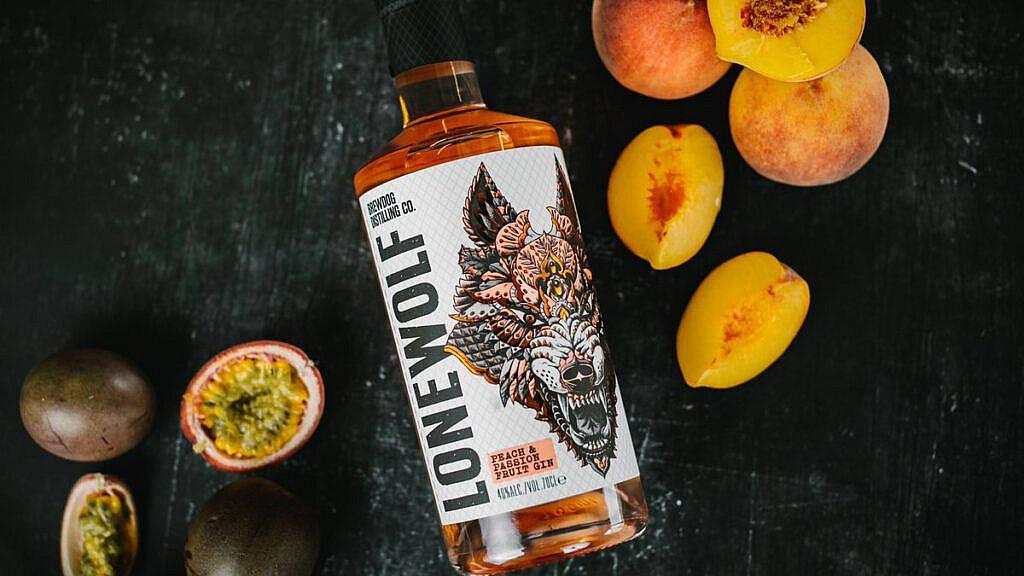 Brewdog Productshot Lonewolf gin peach and passionfruit