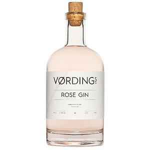 Vørding's Rose Gin - 70cl - fles - voorkant