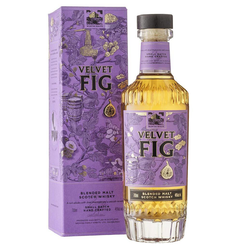 Wemyss Velvet Fig Bottle & Box