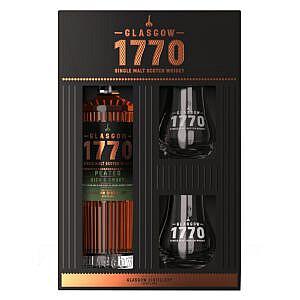 1770 Glasgow Distillery Peated + 2 Glazen