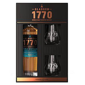 1770 Glasgow Distillery Triple Distilled + 2 Glazen